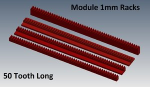 3d rack set module 1mm model