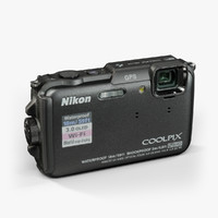 3d model nikon coolpix aw110 black