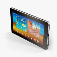 3d max low-poly oysters t10 tablet