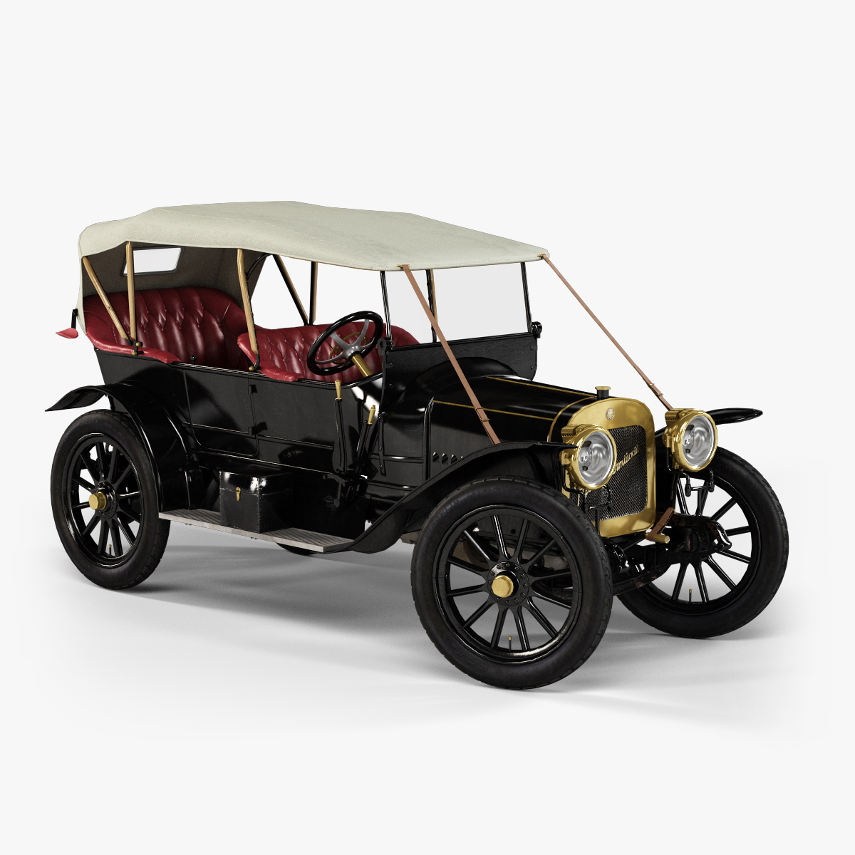 3d model passenger car russo-balt k12