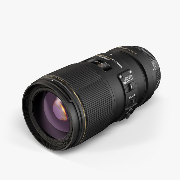 3d model sigma 150mm 2 8
