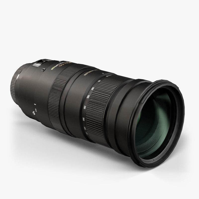3d model sigma 50-500mm 4 5-6