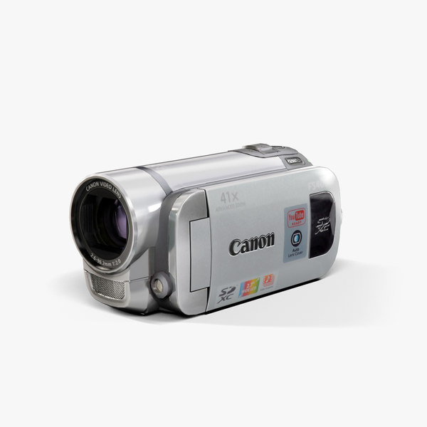 low-poly canon fs400 silver 3d model