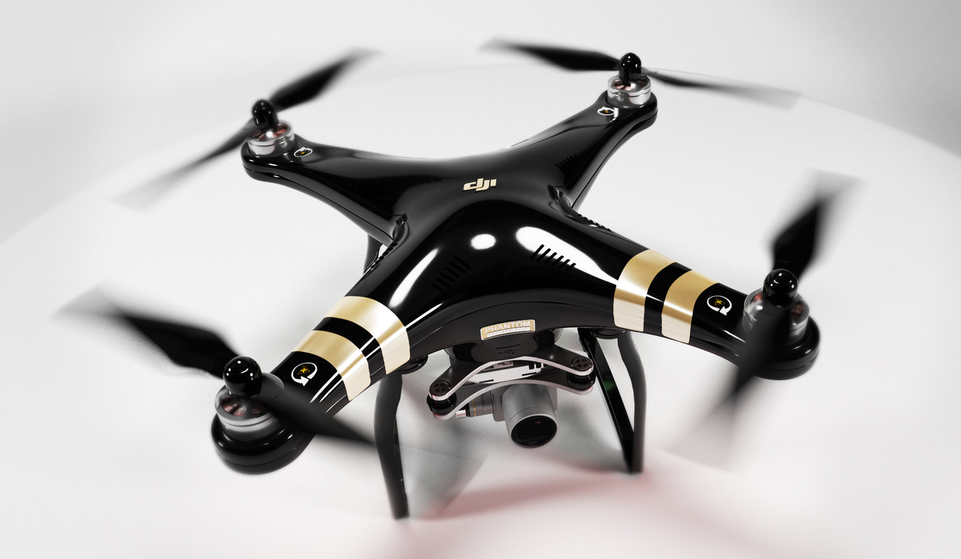dji phantom3 professional 3 3d model