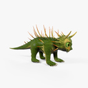 cartoon lizard 3D models
