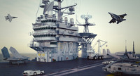 3d model cvn uss abraham