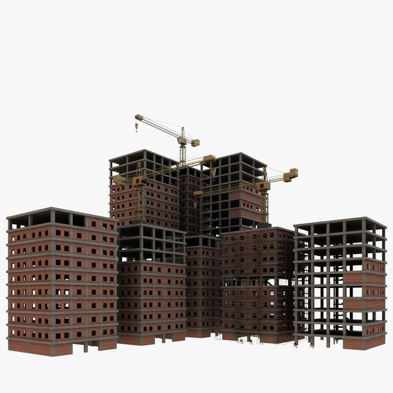 construction site 3d max