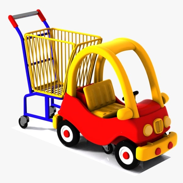 3ds max shopping cart child