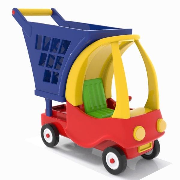 shopping cart child 3d model