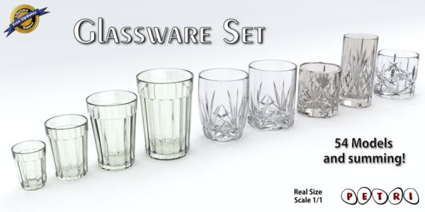 3d glassware - glasses set