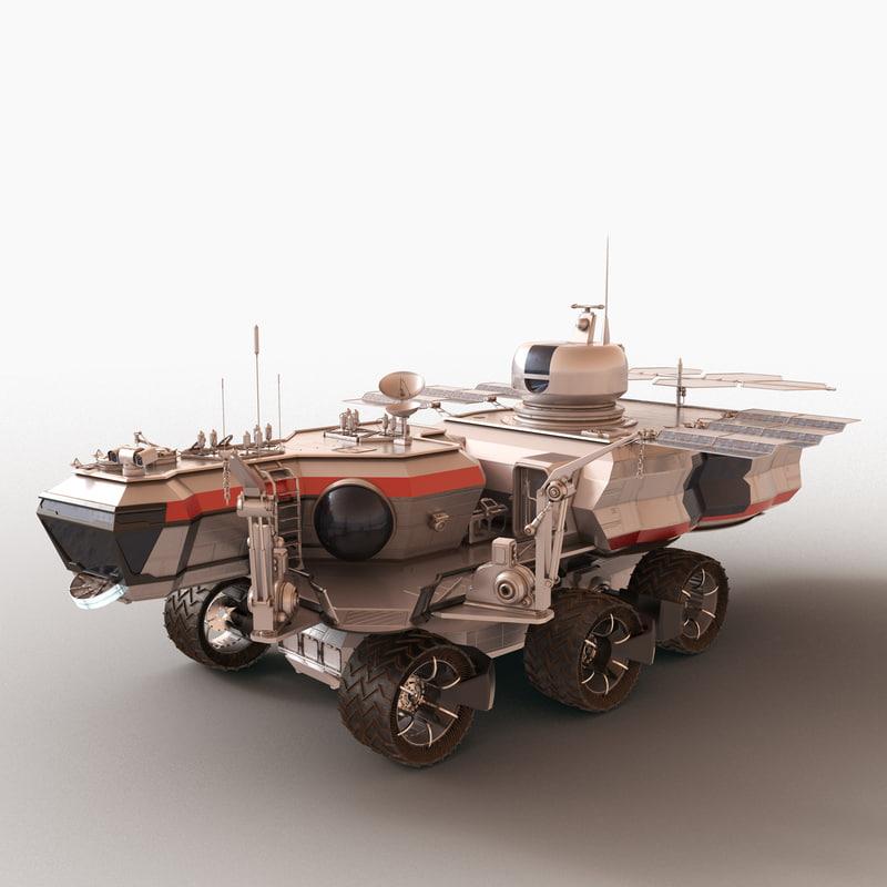 space rover explore 3d model