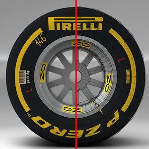 pirelli tyre 3d 3ds