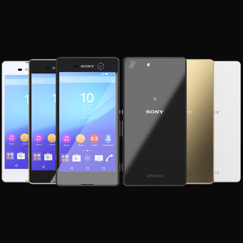 3d 3ds realistic sony xperia m5