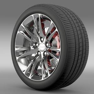 chrysler 300c 2015 wheel 3d model
