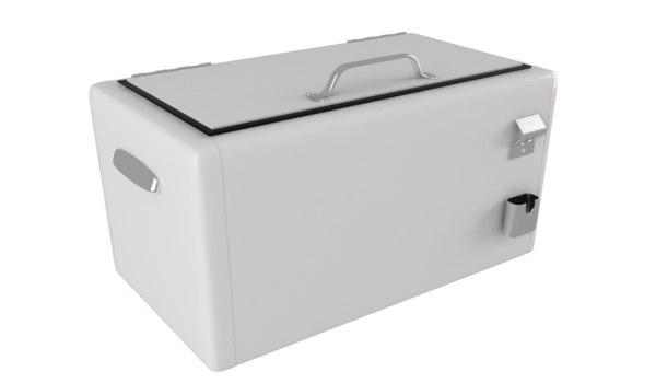 3d model vintage cool box