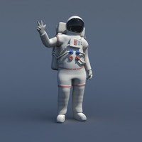 Rigged Nasa Astronaut