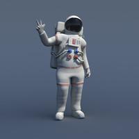 Rigged Nasa Astronaut