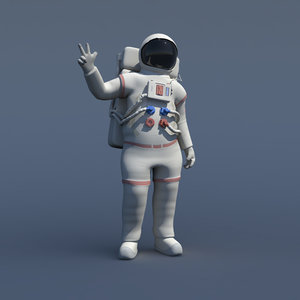 3d obj rigged nasa astronaut