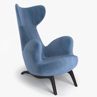 3d max armchair carlo mollino