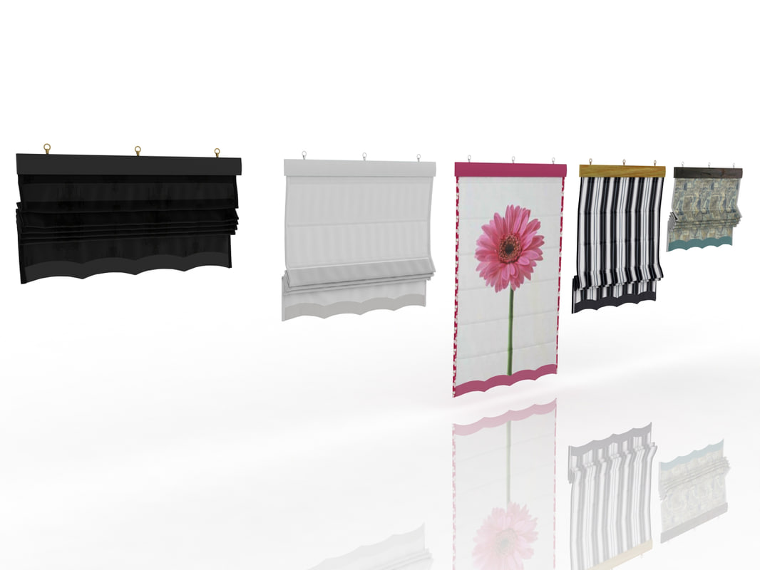 3ds different roman shades