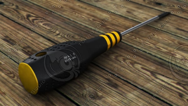 3d flathead screwdriver model