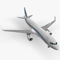 3ds max sharkleted airbus acj320 corporate