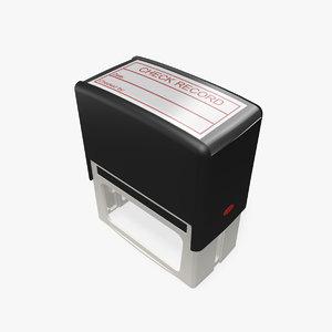 office ink stamp 3d model
