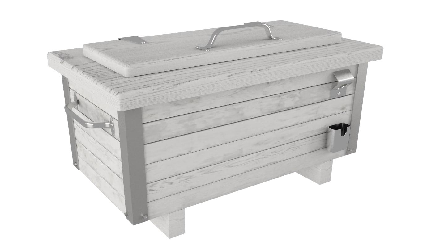 max wood cool box