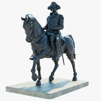 3ds max george washington statue boston