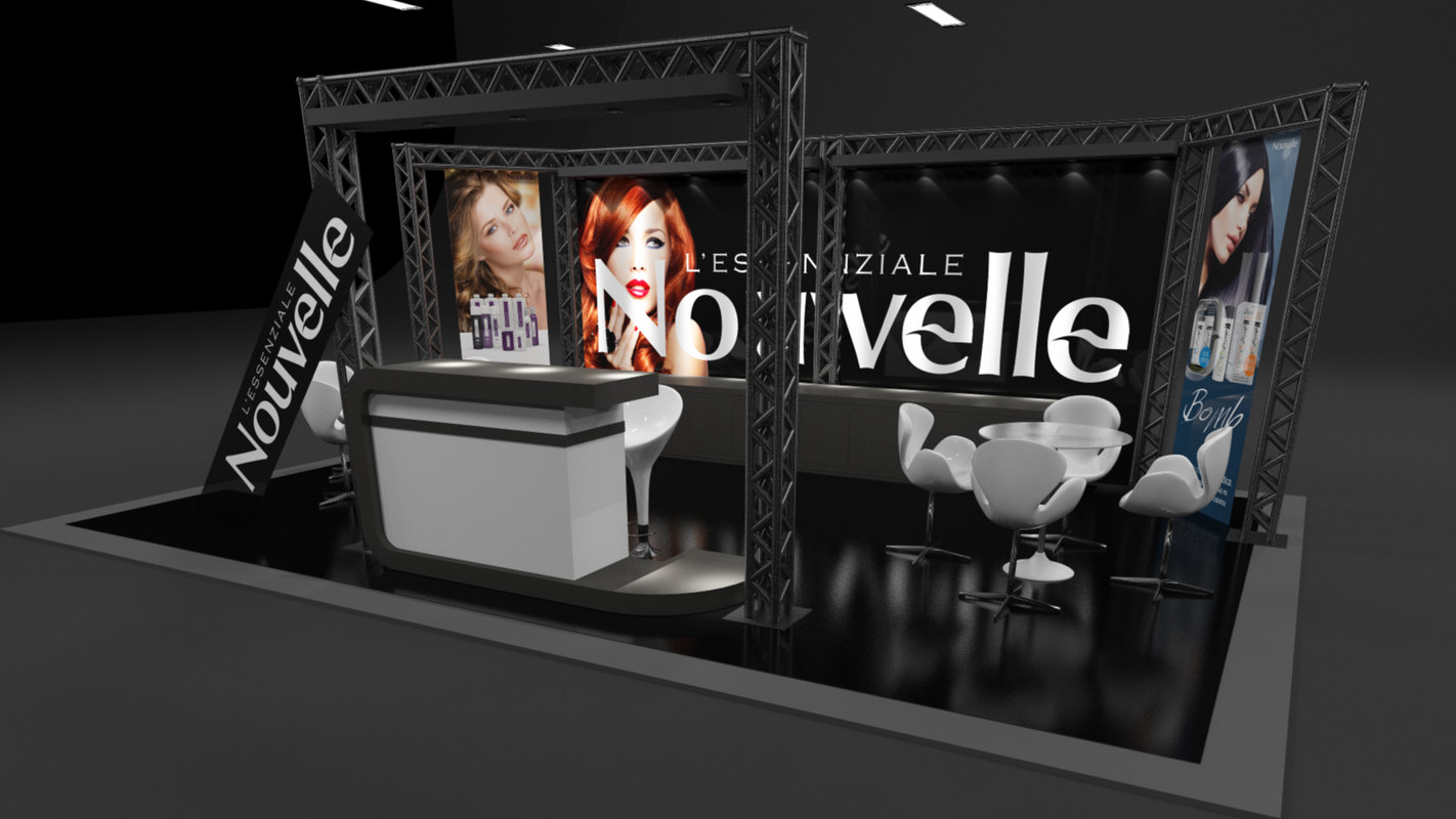 stand events workshops 3d c4d