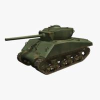 sherman tank m4a3e2 3d model
