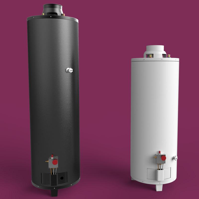 hot water heater 3d model