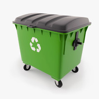 3d plastic waste container model