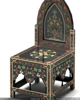 black princess chair 3d 3ds