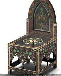 black princess chair 3d 3ds