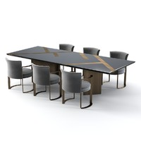 Fendi Casa Margutta dining Table and Chair Set