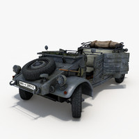 3d kubelwagen machine model