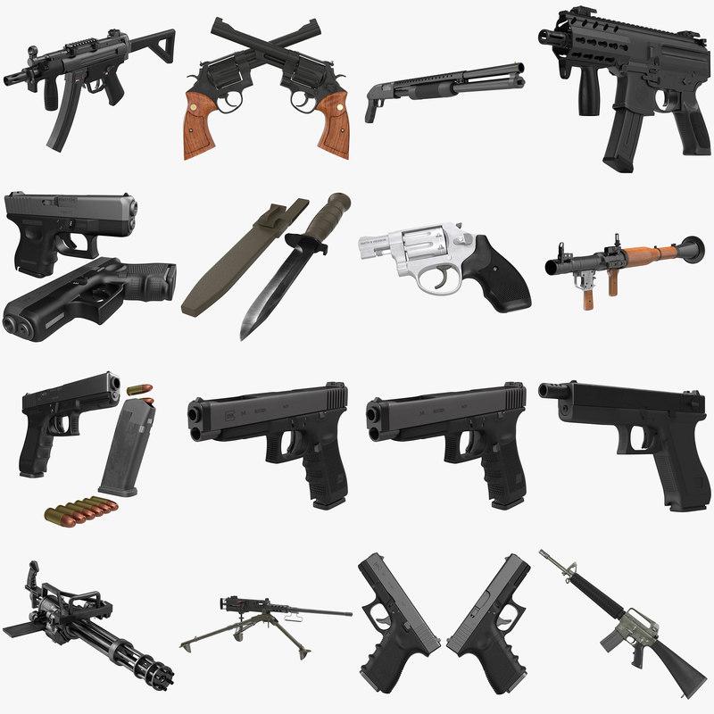 weapons big revolver rifle max