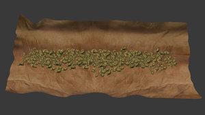 blunt weed 3d model