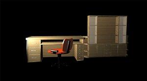 3d table case chair model