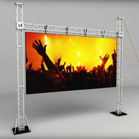 Telebim scaffolding LED screen high