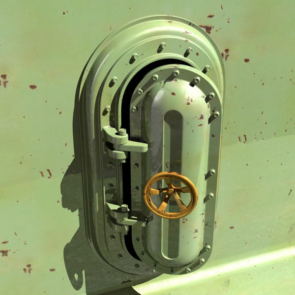 obj marine steel door