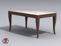 3d wooden table marble