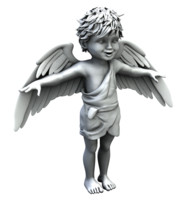cupid angel boy child 3d obj