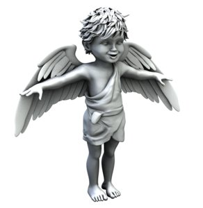 cupid angel boy child 3d obj