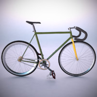 3d vintage fixed gear bicycle