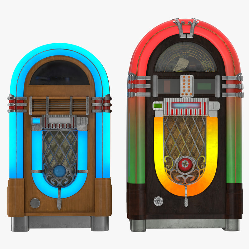 3d jukeboxes modeled