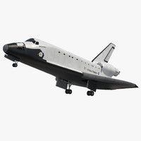 Space Shuttle Atlantis Rigged 3D Model