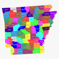 3d model arkansas counties