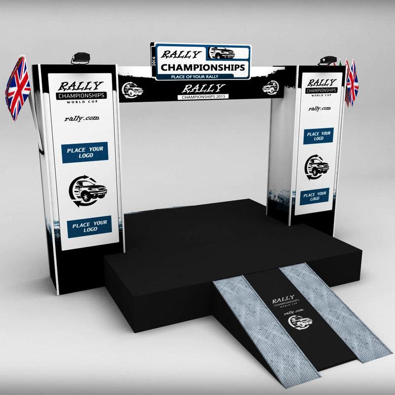 wrc podium 02 3d model